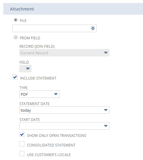 NetSuite workflow statement accounts receivable